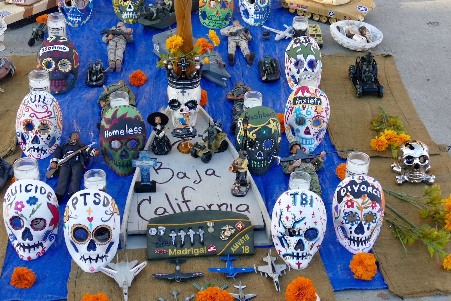 Dia de los muertos altar for Veteran issues - Santa ana 2016